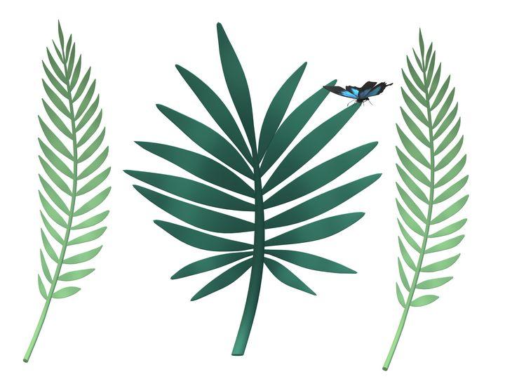 Digital art of leaves - Prakrish