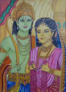 Ram sita painting