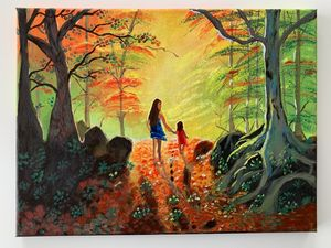 Acrylic hand made painting