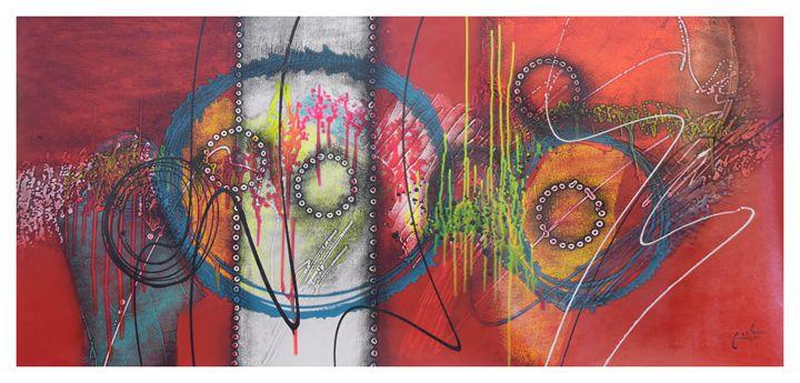 """EXTRA LARGE Abstract """"A-nos en azul"""" - CastanoGallery"""