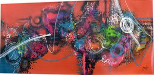 "EXTRA LARGE Abstract ""Naranja - Nara"