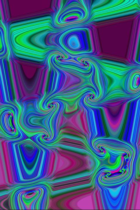 Abstract Design in Blue - Alicia Counter