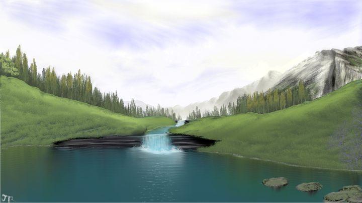 Grassy Falls - Josiah Ray Scenic Art