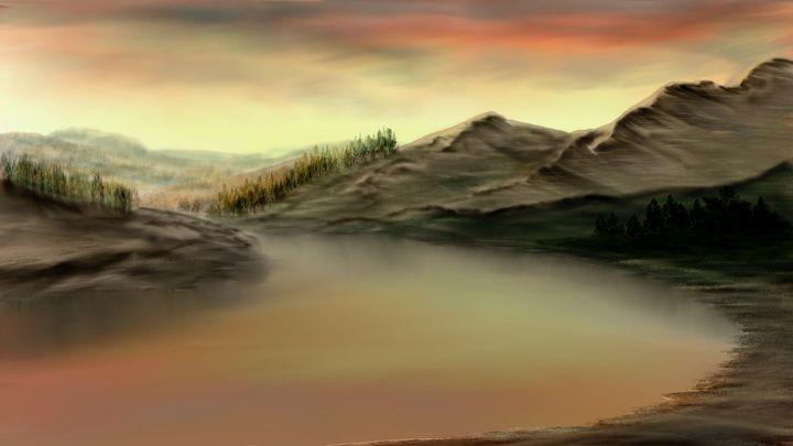 Golden Sunset - Josiah Ray Scenic Art