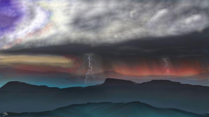 Sunset Storm - Josiah Ray Scenic Art