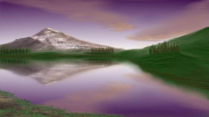 Serenity in purple skies - Josiah Ray Scenic Art