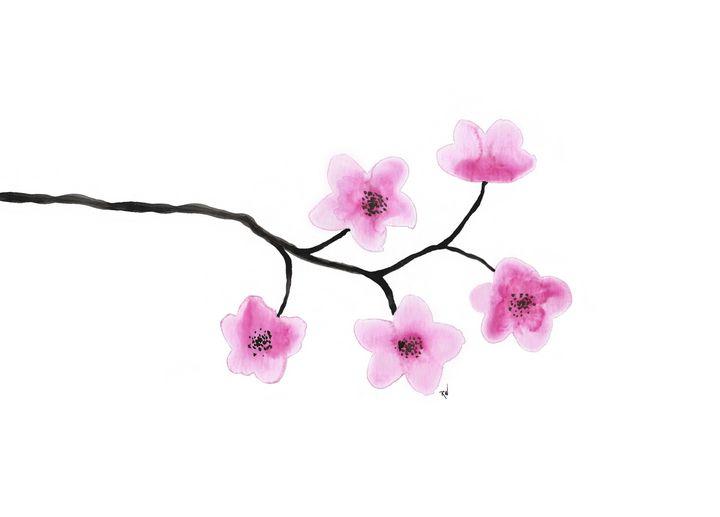 Cherry Blossom Flowers - RichWrz Designs