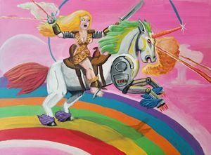 Mecha-Unicorn and Warrior