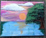 acrylic colorful landscape