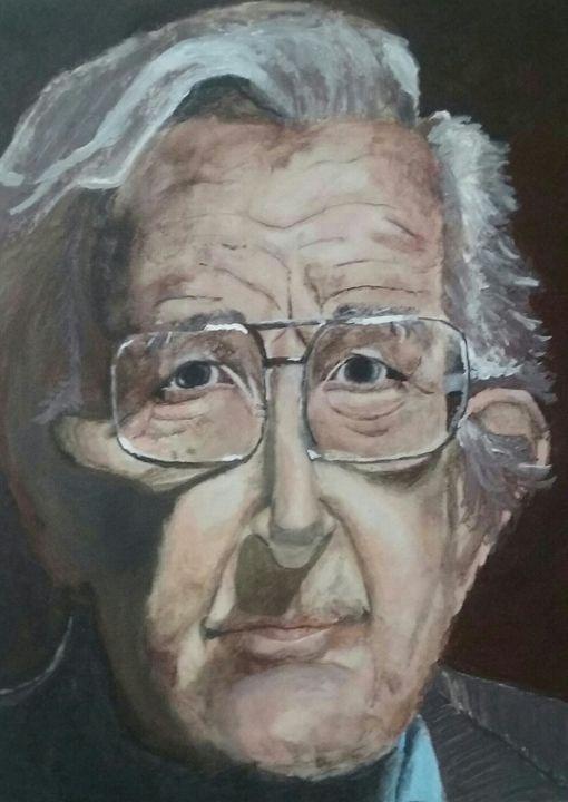 Portrait of Noam Chomsky - HPaintings