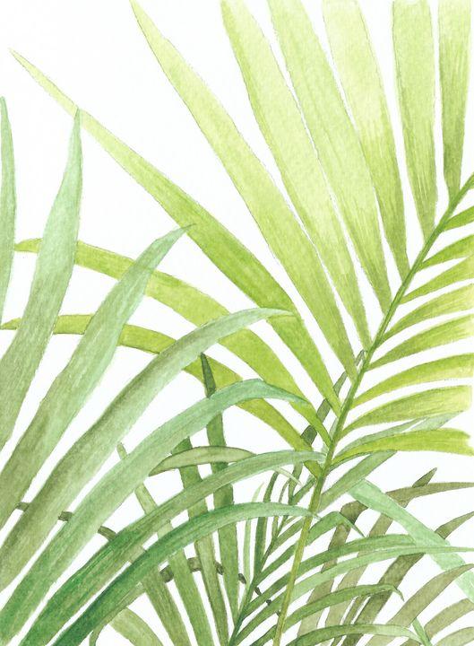 Tropical Palm Leaves - Natasha's Art