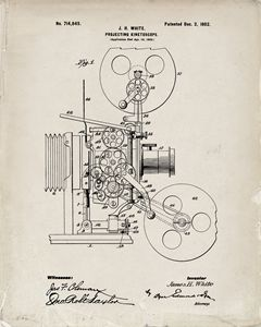 1902 Projector Patent - Old Paper