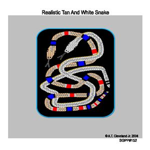 Realistic Tan And White Snake