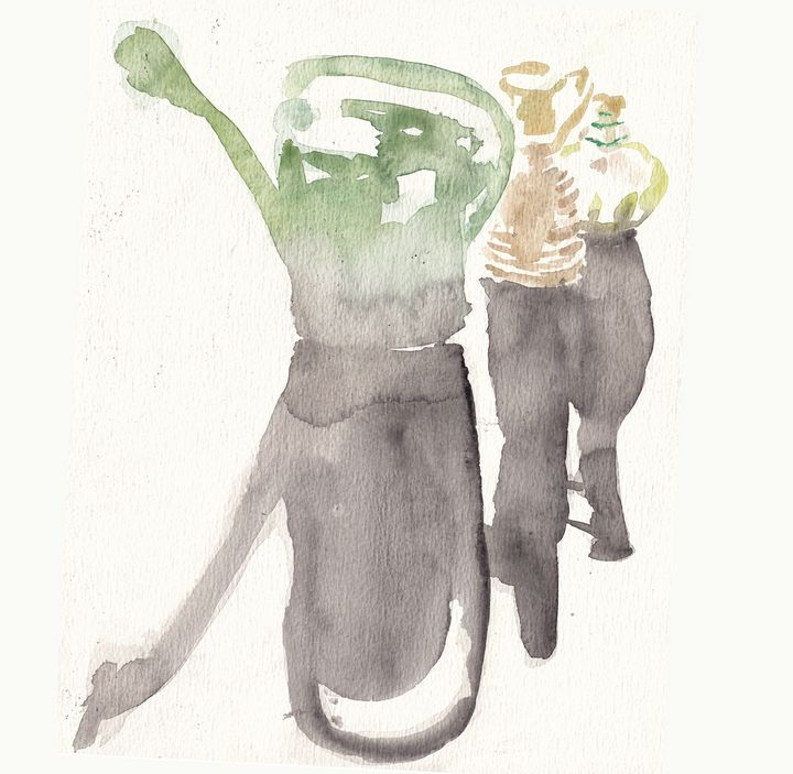 Garden can and vases - Anna Korteweg