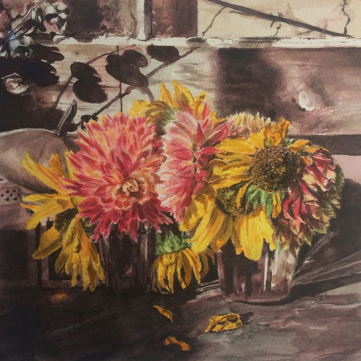 Autumn flowers - Anna Korteweg