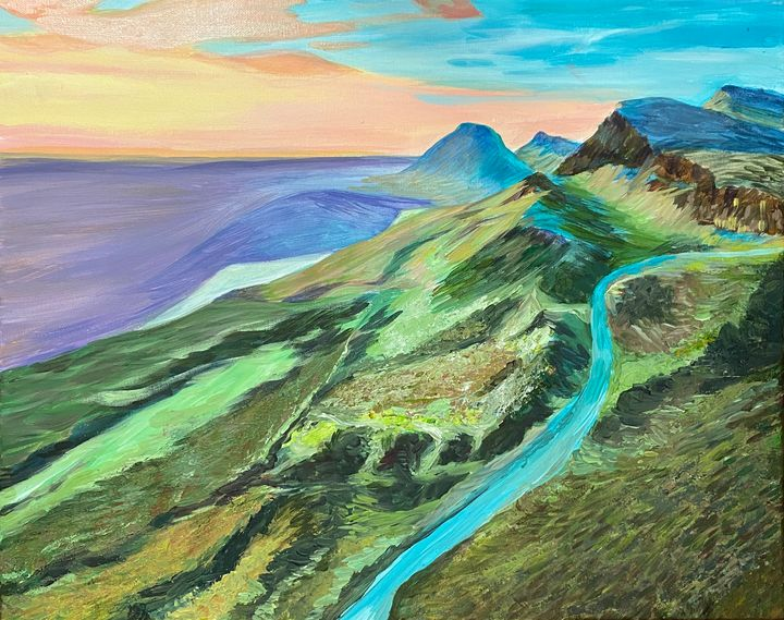 Mountain Landscape Painting - ACAcrylicPaintings