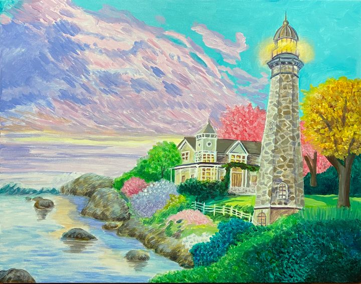 Lighthouse Painting - ACAcrylicPaintings