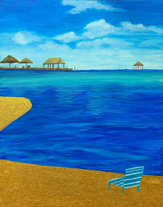 At the Beach - ACAcrylicPaintings