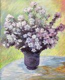 Purple Flowers Painting