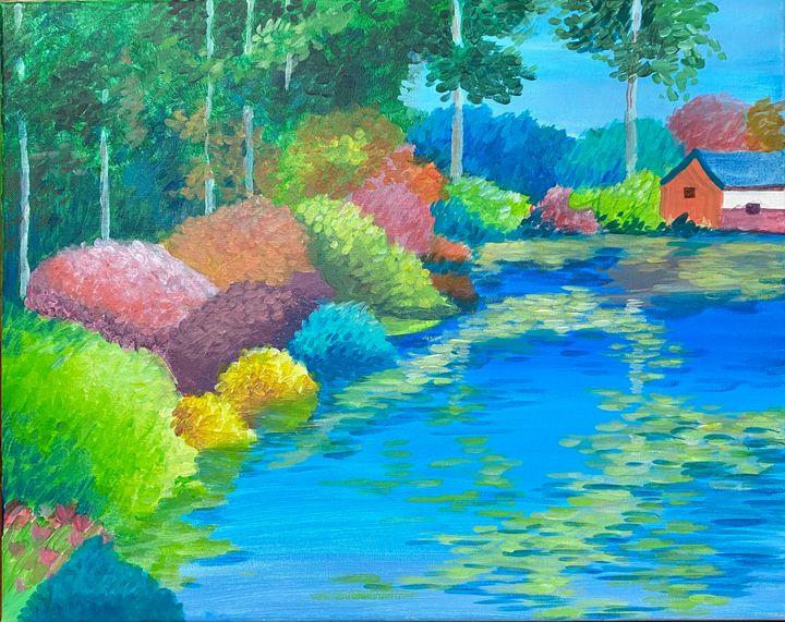 Waterfront/Lakeside Painting - ACAcrylicPaintings