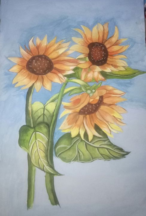 Poster color painting - Bhavna