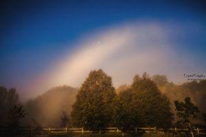 Foggy rainbow