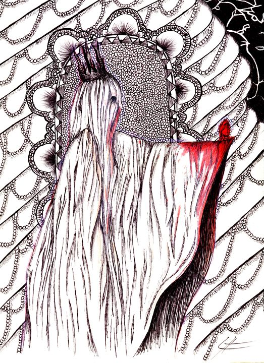 The Veiled Lady: Queen of Hearts - LilyKins' Art