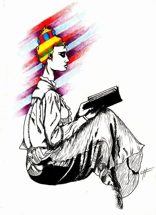 Lady Reader - LilyKins' Art