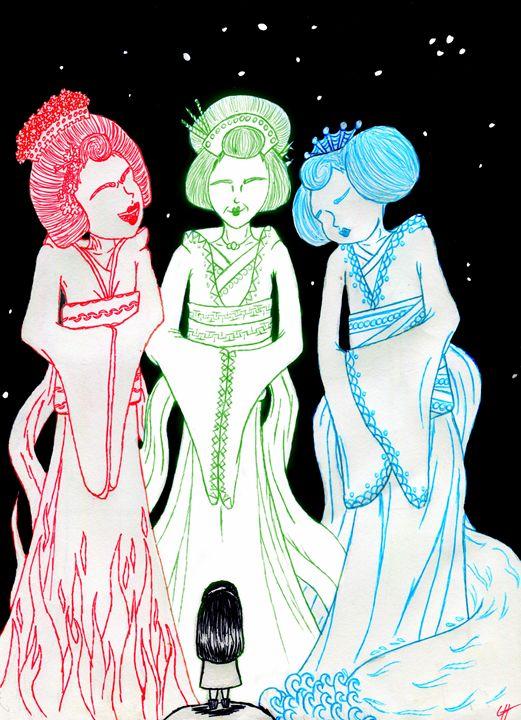 The Three Goddesses - LilyKins' Art