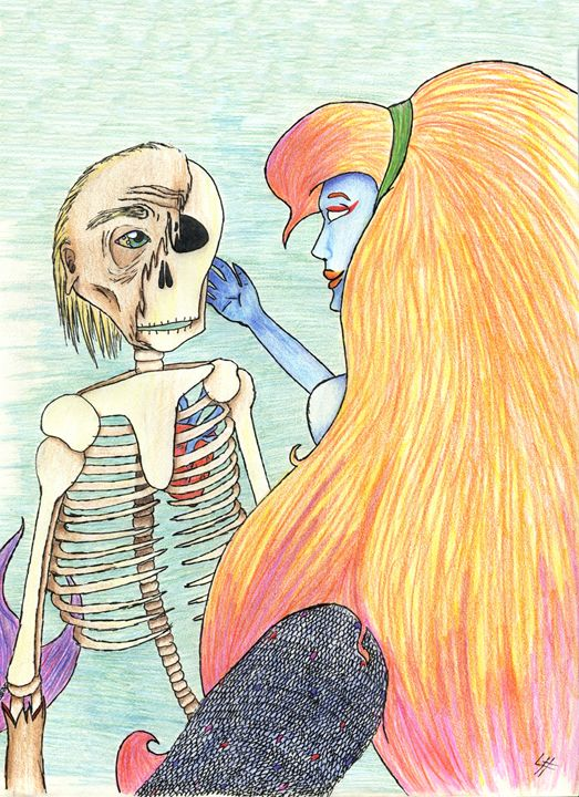 Mermaid and the Skeleton #3 - LilyKins' Art