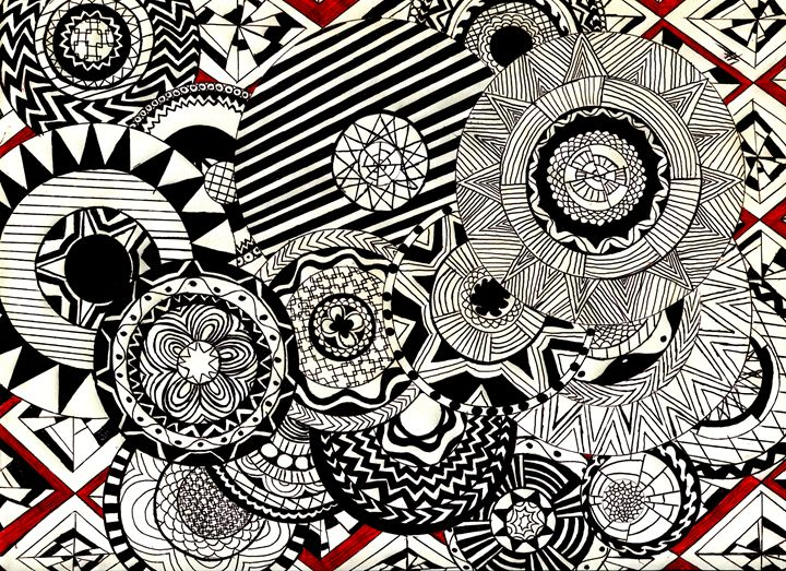 Mandalas in Red - LilyKins' Art