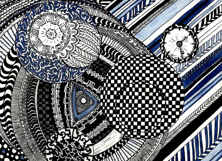 Mandalas in Blue - LilyKins' Art