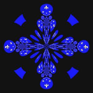 Symbole universel en bleu
