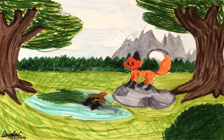 Fox in the Woods - HeartBeatStudios