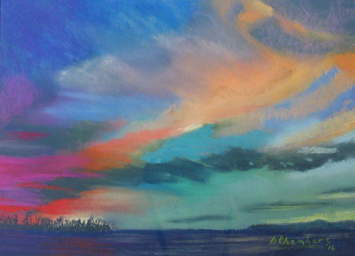 RAINBOW COLORS SUNSET - D Chambers Art