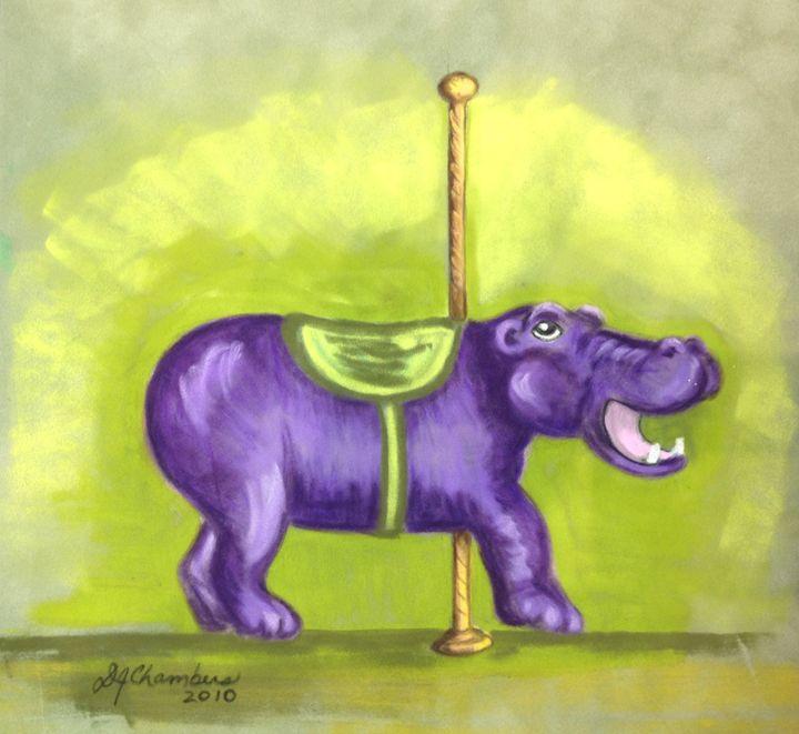 Carousel Hippo - D Chambers Art