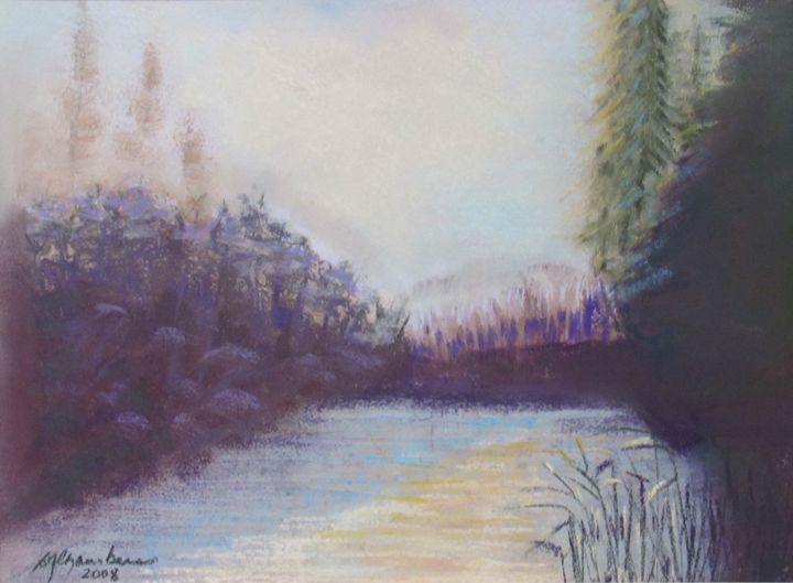MISTY MORNING ON THE RIVER - D Chambers Art
