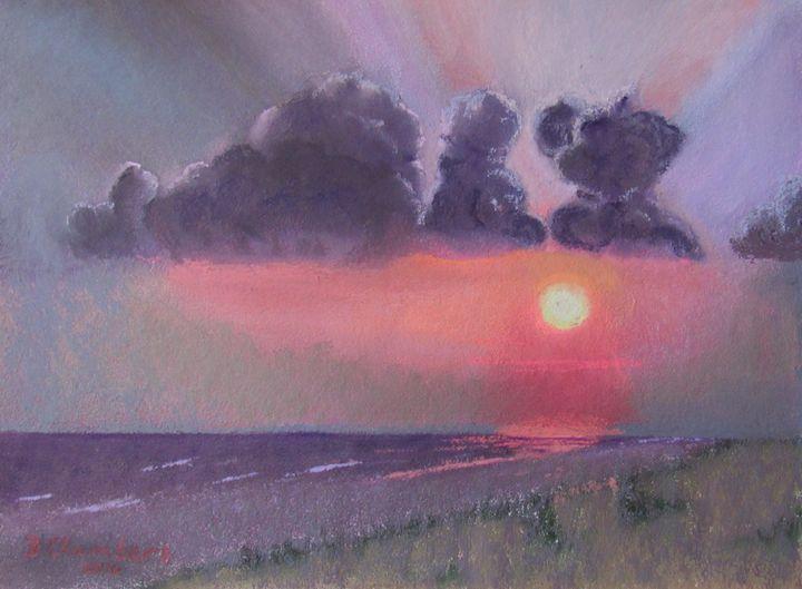 SUNSET ON THE OCEAN IN PURPLE HAZE - D Chambers Art