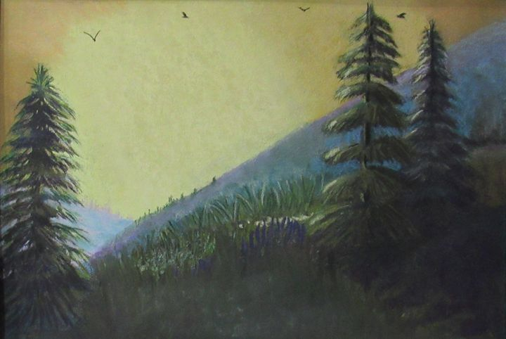 PINE TREES AT SUNRISE - D Chambers Art