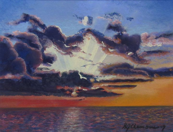 SUNSET AFTER THE STORM - D Chambers Art