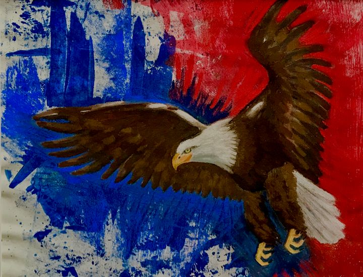 EAGLE IN FLIGHT - D Chambers Art