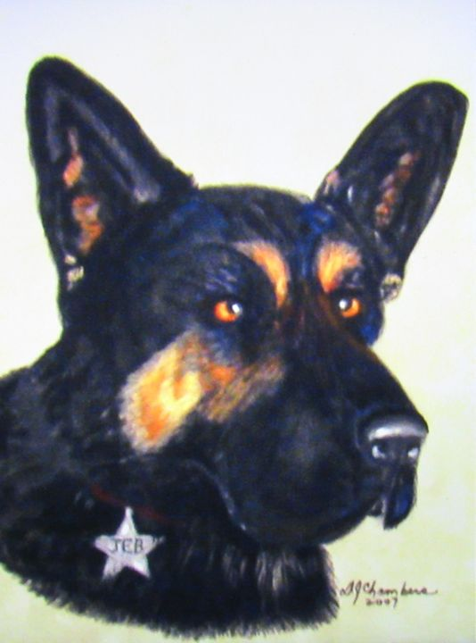 GERMAN SHEPHERD - D Chambers Art