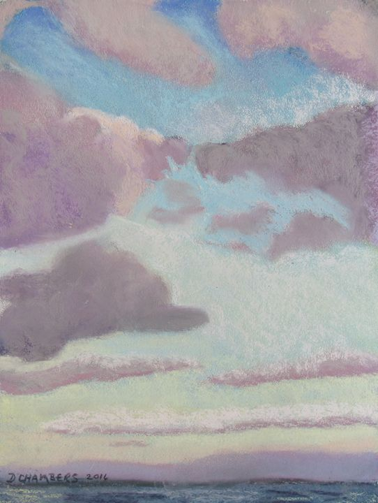 CLOUDS IN A PASTEL SKY - D Chambers Art