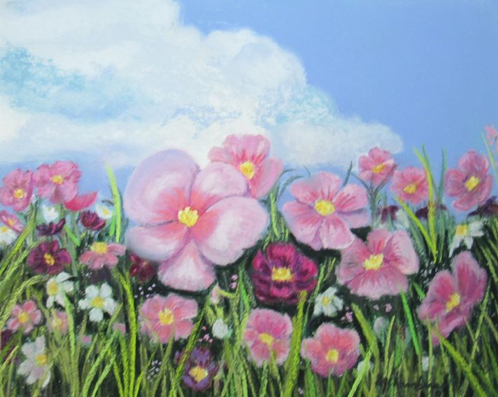 COSMOS IN THE BREEZE - D Chambers Art