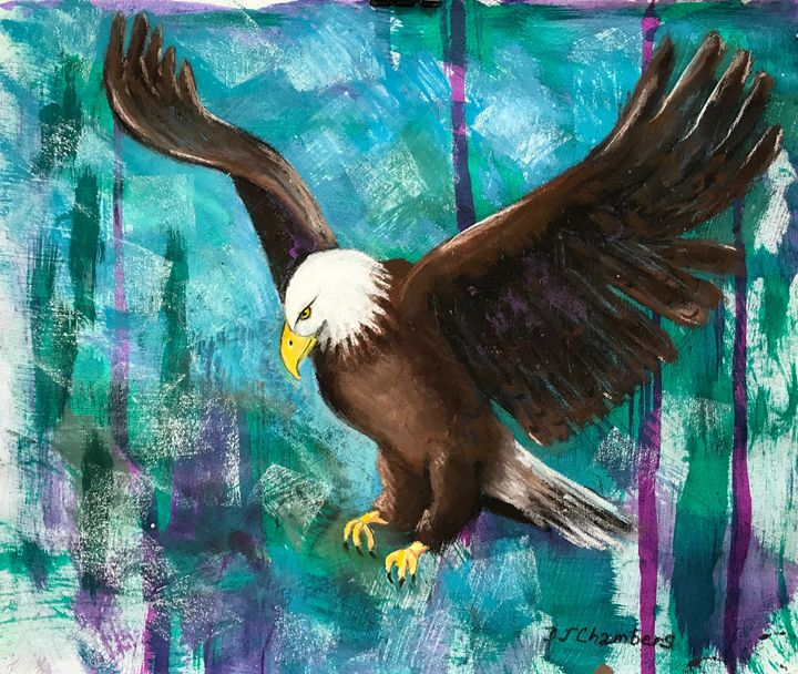 EAGLE ON THE HUNT - D Chambers Art