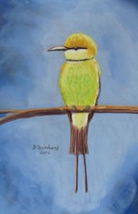 BEE EATER: YELLOW AND GREEN