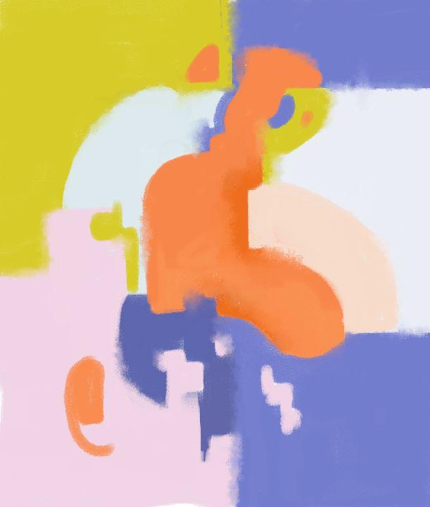 Lavender Field - Abstract Digital Paintings
