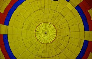 Inside an air balloon