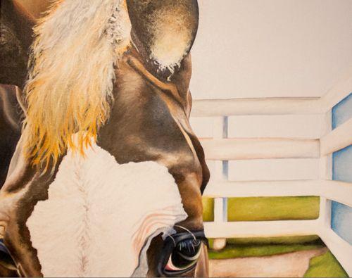 Fenced In - Fine Artist Julie Anna Freund
