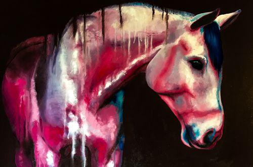 Cassandro Z - Fine Artist Julie Anna Freund